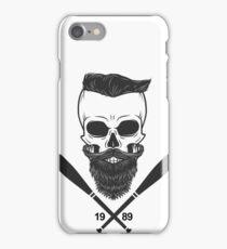 Bearded Skull - Totenkopf, Bart, Hipster, Baseball iPhone Case/Skin
