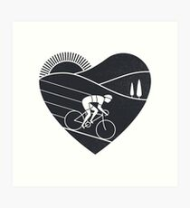 Love Cycling  Art Print