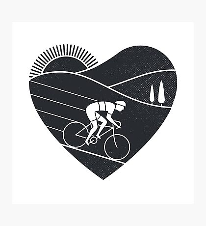 Love Cycling  Photographic Print