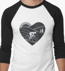 Love Cycling  Men's Baseball ¾ T-Shirt