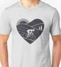 Camiseta unisex Amor en bicicleta