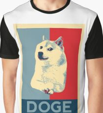 DOGE - doge shepard fairey poster with dog red / blue Graphic T-Shirt