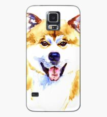 Watercolor Akita inu dog on white background Case/Skin for Samsung Galaxy