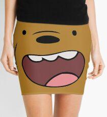 Grizzly Bears Face Mini Skirt