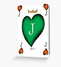 Lucky Jack of Hearts by Tony Fernandes Greeting Card