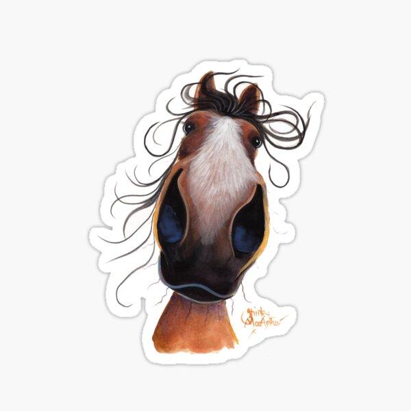 HORSE PRiNT 'FLASH' By Shirley MacArthur Sticker