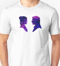 Han and Leia Water Colour Unisex T-Shirt