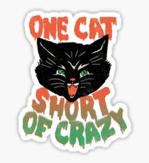 Crazy Cat Sticker