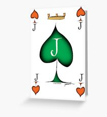 Lucky Jack of Spades by Tony Fernandes Greeting Card