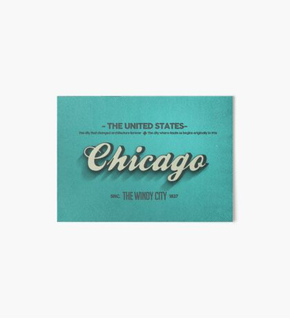 Vintage Chicago Art Board