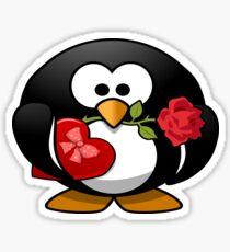 Valentine Penguin Sticker