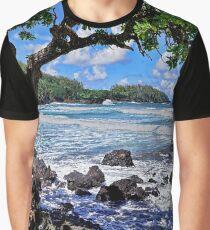 Blue Hawaii Graphic T-Shirt