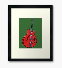 Electro-acoustic bass guitar Framed Print