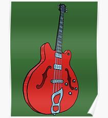 Electro-acoustic bass guitar Poster