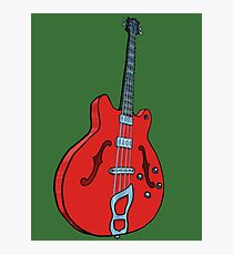 Electro-acoustic bass guitar Photographic Print