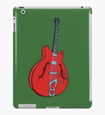 Electro-acoustic bass guitar iPad Case/Skin
