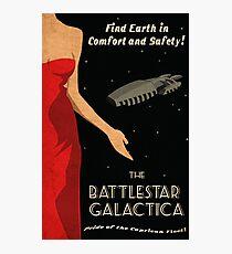 Vintage Battlestar Galactica Travel Poster Photographic Print