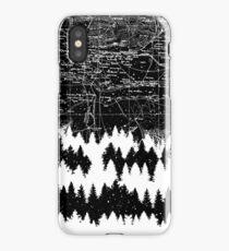 Map Silhouette Square iPhone Case/Skin