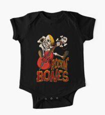 Rockin Bones - Vollfarbe Baby Body Kurzarm