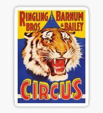 TIGER, Growl, Circus Poster, Ringling Bros, Circus, Animal, Vintage, Poster, Sticker