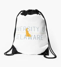 university of delaware Drawstring Bag