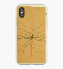 Pyramidal Cell in Cerebral Cortex, Cajal Illustration iPhone Case