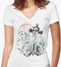 Jack Burton - Lo Pan 25 Years Old Distress Fade Women's Fitted V-Neck T-Shirt
