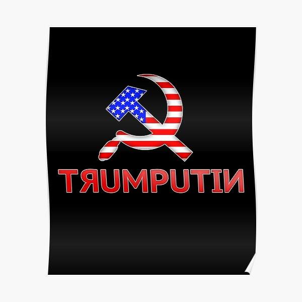 Anti-Trump Putin Resistance Protest Banner Russia Collusion RUSSIAN TRUMP FLAG