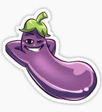 Cool Aubergine #digistickie Sticker