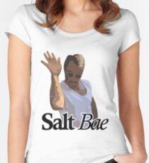 Salt Bae Meme (Italic cutout) Women's Fitted Scoop T-Shirt