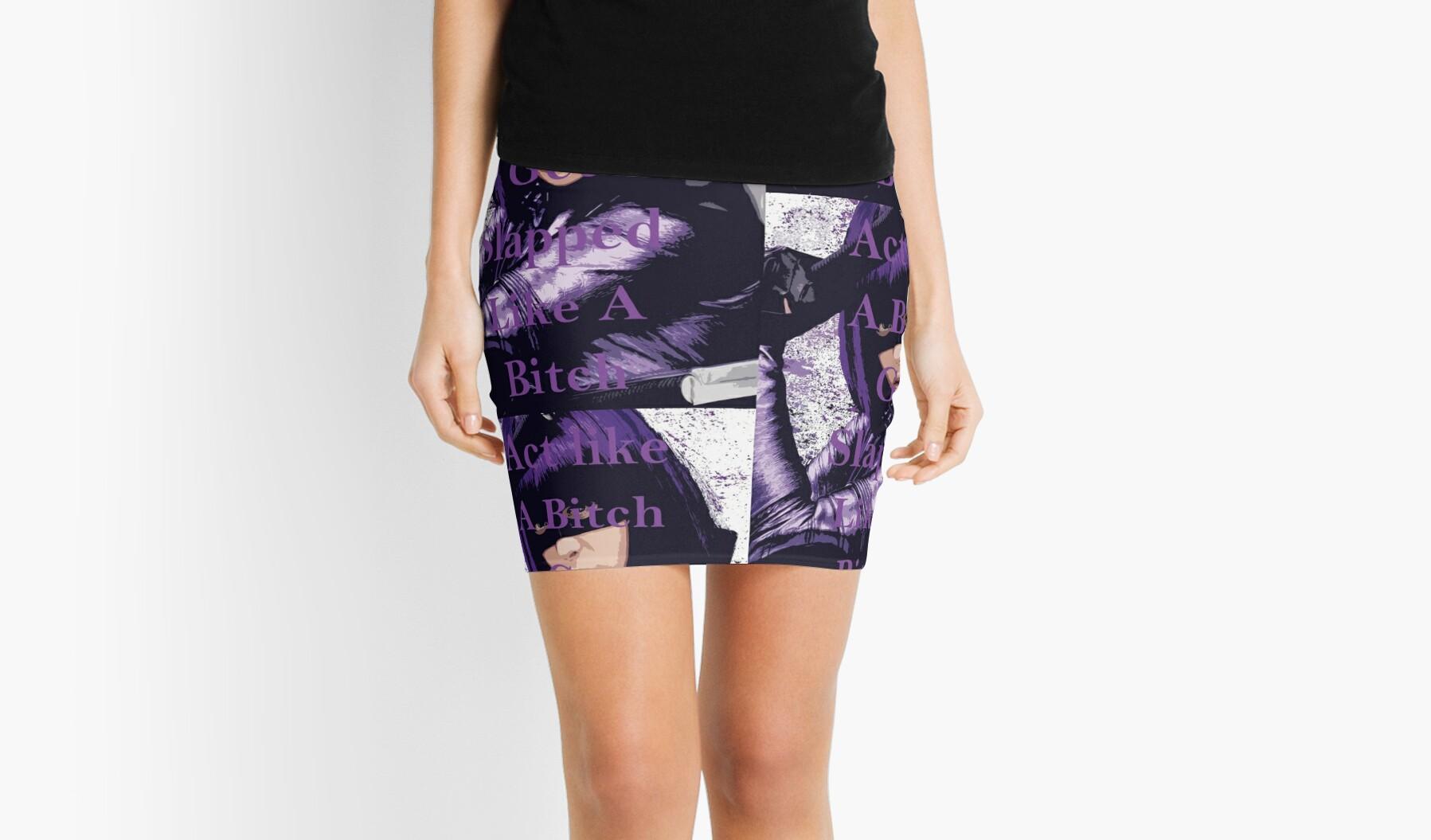 Ass in mini skirts
