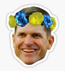 Harbaugh Flower Crown Sticker