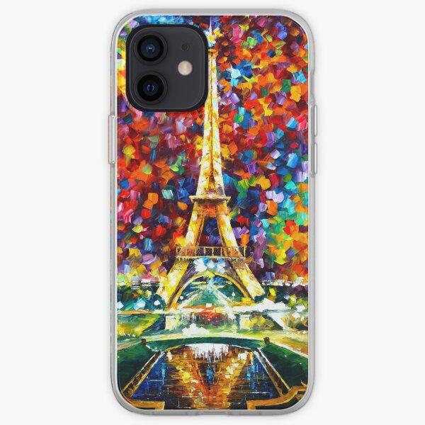 paris of my dreams - Leonid Afremov iPhone Soft Case