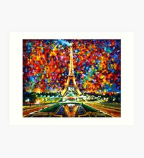 paris of my dreams - Leonid Afremov Art Print