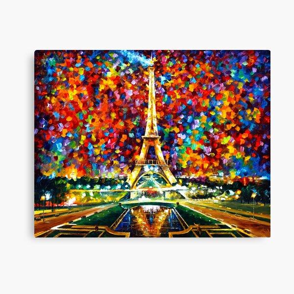 paris of my dreams - Leonid Afremov Canvas Print