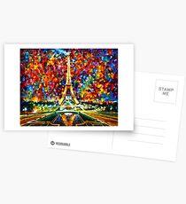 paris of my dreams - Leonid Afremov Postcards