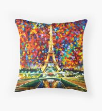 paris of my dreams - Leonid Afremov Throw Pillow