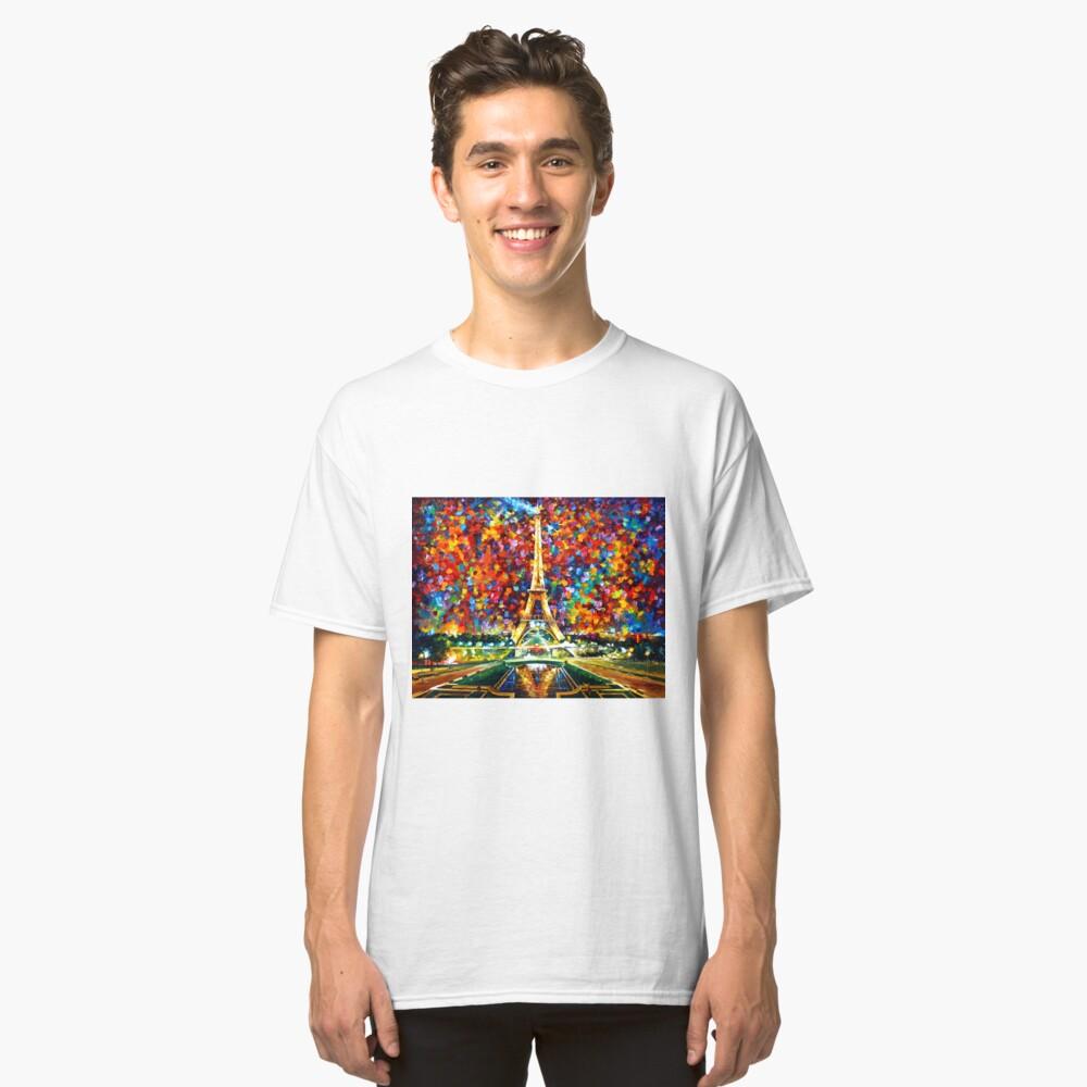 parís de mis sueños - Leonid Afremov Camiseta clásica