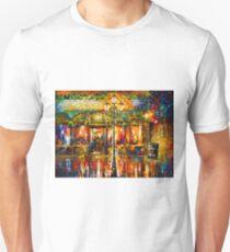 Misty Cafe - Leonid Afremov Unisex T-Shirt
