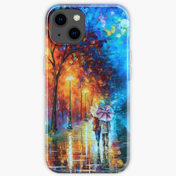 Love by The Lake - Leonid Afremov iPhone Soft Case