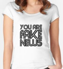 Fake news Women's Fitted Scoop T-Shirt