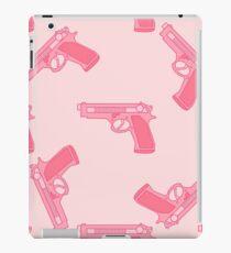 Pink gun for dangerous girls. iPad Case/Skin