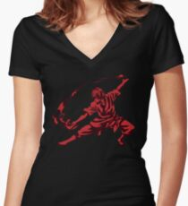 Zuko Avatar Women's Fitted V-Neck T-Shirt
