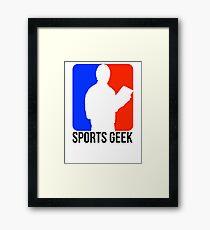 Sports Geek Logo - Jerry West style Framed Print