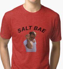Salt Bae Funny Meme Tee Shirt Tri-blend T-Shirt