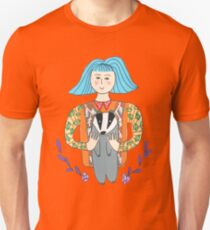 Girl with a badger Unisex T-Shirt