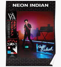 Indien néon - Vega intl. École de nuit Poster