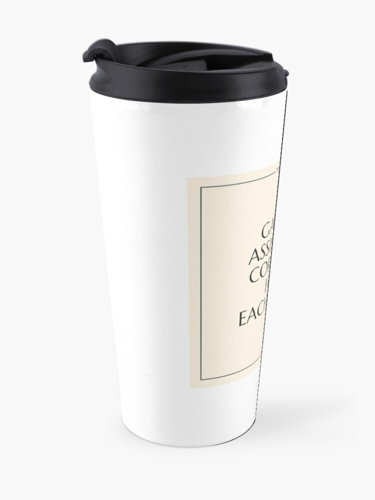 Alternate view of The Art World: Gallery Assistants Travel Mug