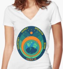 HERA IX Mission Logo Women's Fitted V-Neck T-Shirt
