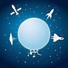 Moon Orbit by belusart